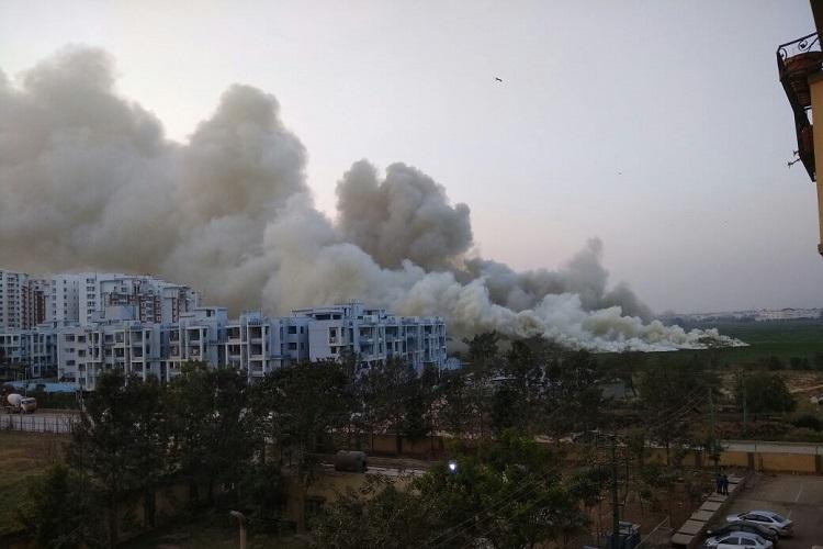After toxic foam clouds Bellandur Lake catches fire for second time