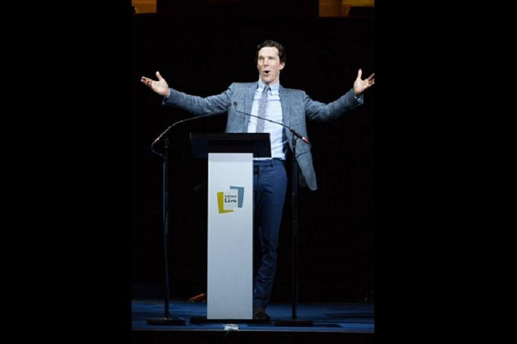 Watch Benedict Cumberbatchs superb impersonation of Tom Hanks at letter-reading event