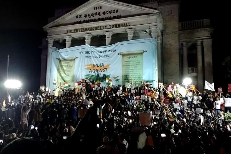 Bengaluru citizens protest at Town Hall against Citizenship Act