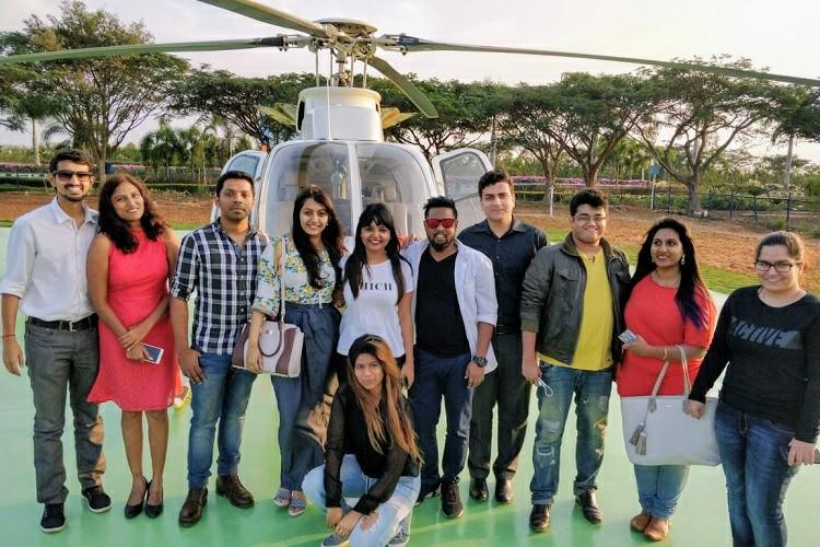 Love in the air Lucky couples enjoy early ride on Bengalurus heli-taxis