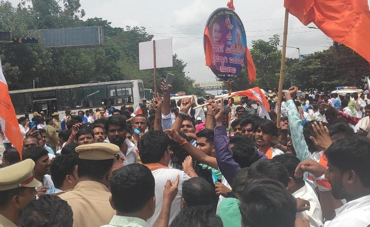 Karnatakas Valmiki community stages protest in Bengaluru demands 75 reservation