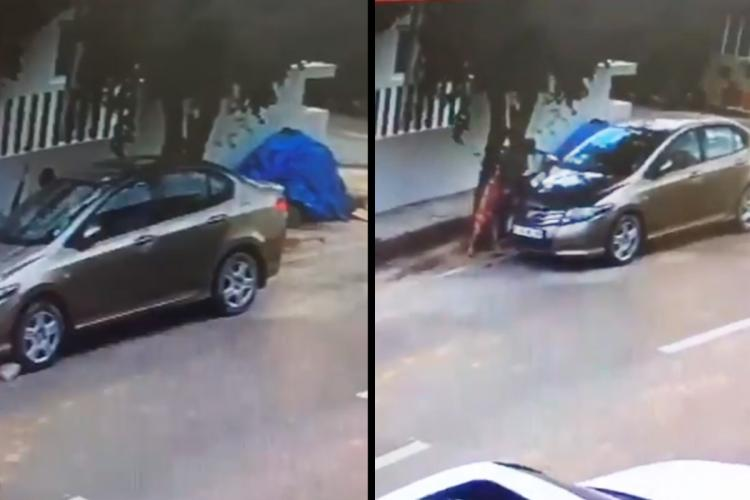 CCTV stills of woman suffering the fatal accidednt