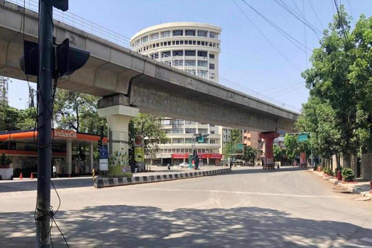 A deserted street in Bengaluru