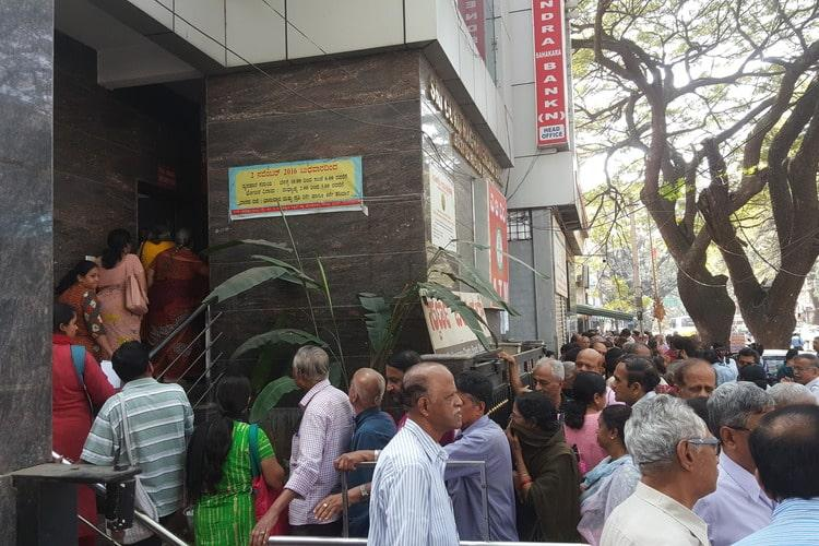 Depositors rush to co-op bank in Bengaluru to withdraw cash after RBI places regulations