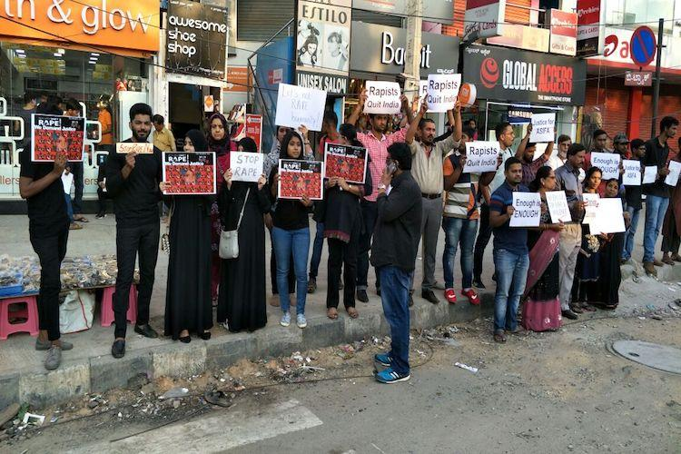 Kathua Case: Kashmir Law College student stage protests
