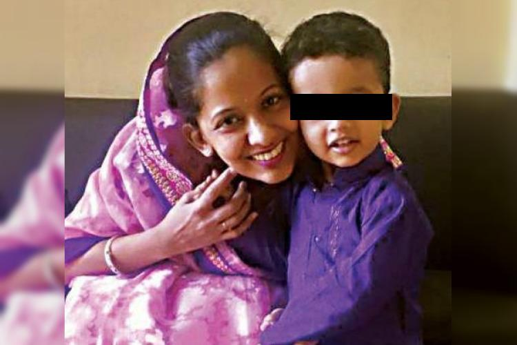 Bengaluru woman who fell off balcony with 2-yr-old son was harassed by husband Police