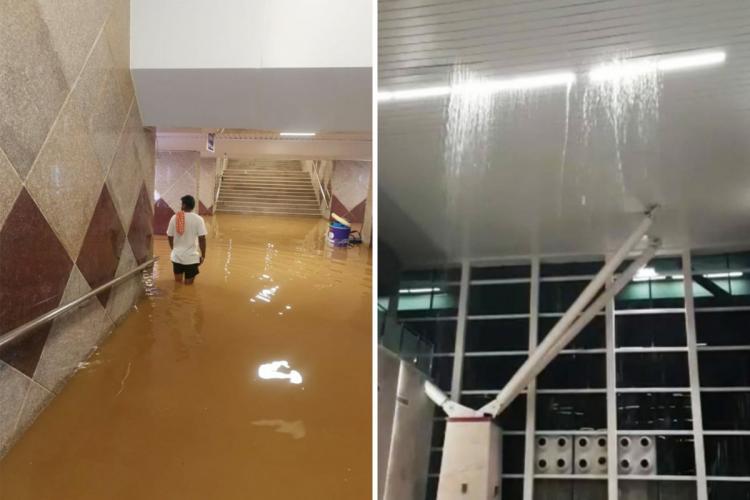 Flooding in Sir M Visvesvaraya Railway Terminal in Bengalurus Byappanahalli