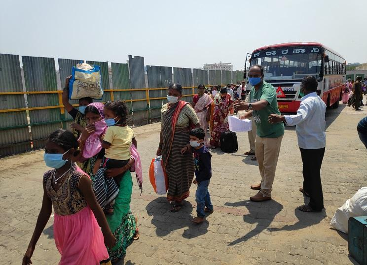 At Bengalurus bus stand migrant workers have to pay exorbitant fares to get home