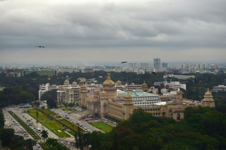 Bengaluru: An aerial shot of Vidhan Soudha in Bengaluru