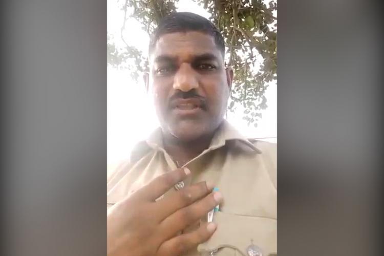 Selfie of Bengaluru police constable Basavaraj Patil