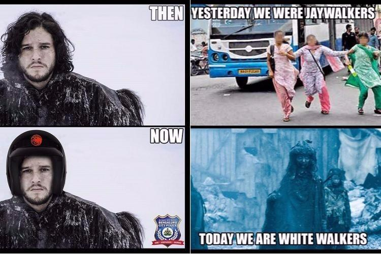 Turning GoT theories into safety tips Bengaluru polices social media feed has swag