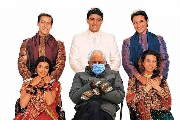 Bernie Sanders in Hum Saath-Saath Hain Internet explodes with memes