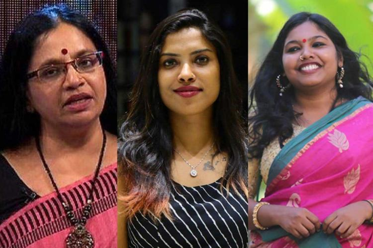 Collage of Bhagyalakshmi Diya Sana and Sreelakshmi