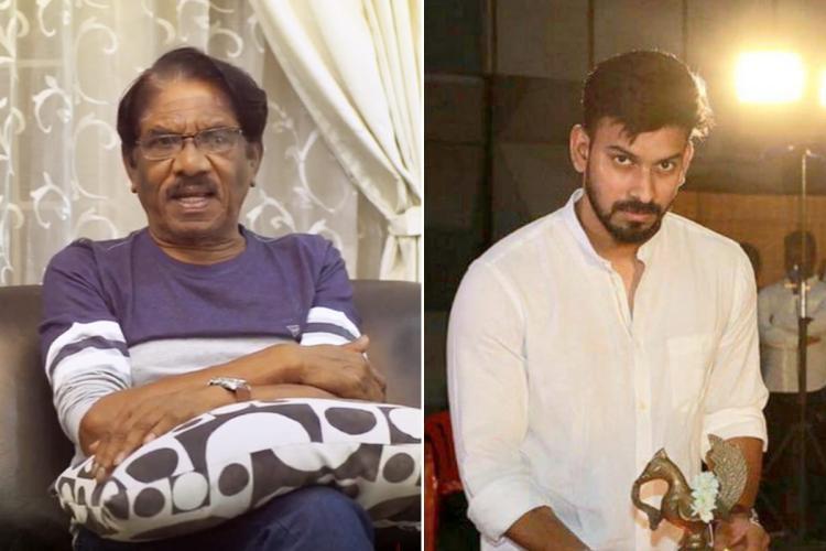 Collage of veteran director Bharathiraja and Irandam Kuthu director Santhosh