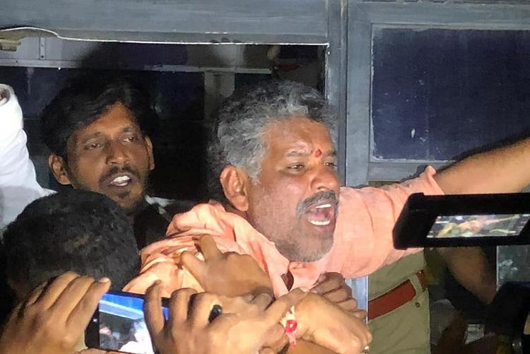 Mild tension in Chittoor after YSRCP MLA Bhaskar Reddy detained by police
