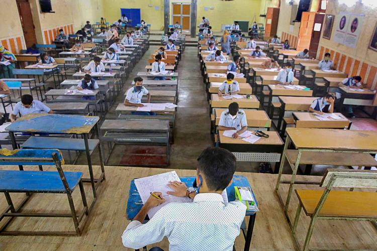 An exam being conducted in Bhopal