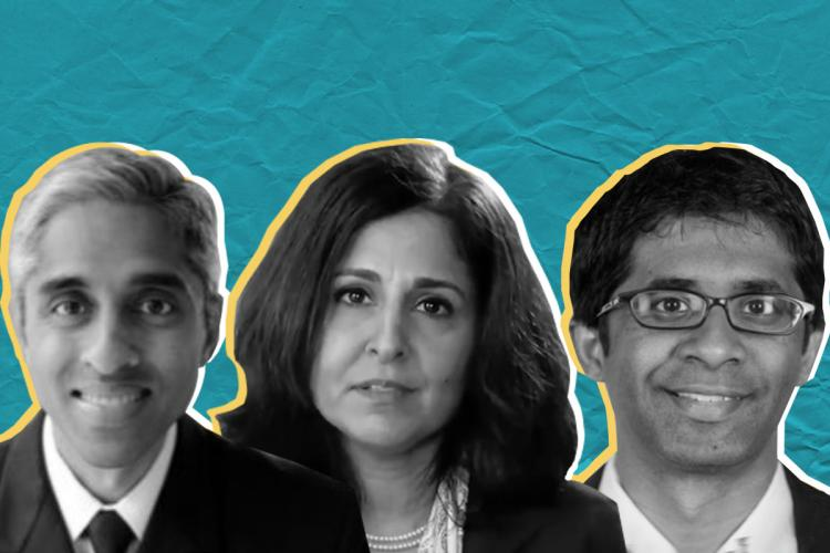 Dr Vivek Murthy Neera Tandon and Vinay Reddy who are part of the Biden administrations new team