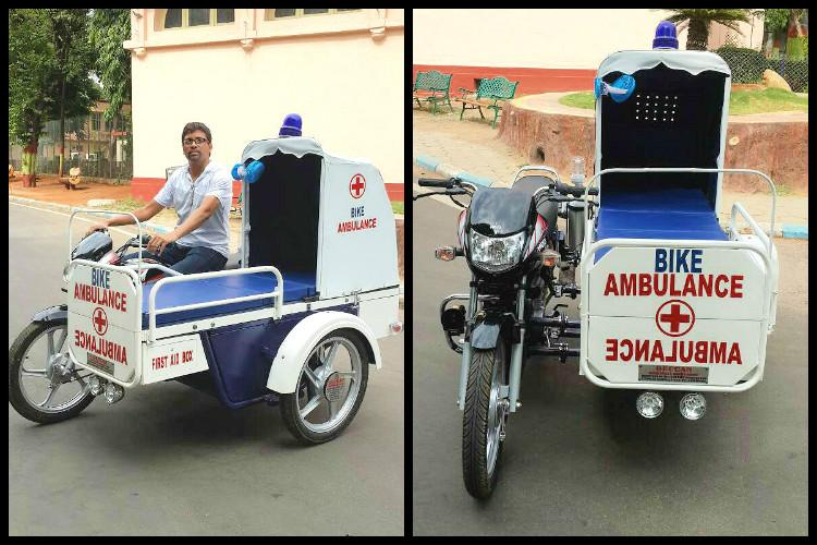 Lifesaver on 2 wheels Meet the Hyderabad man who created a bike ambulance
