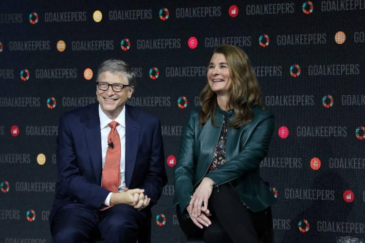 Bill and Melinda Gates at an event