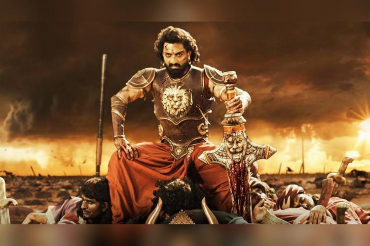 Nandamuri Kalyan Ram is seen as a warrior figure in the poster