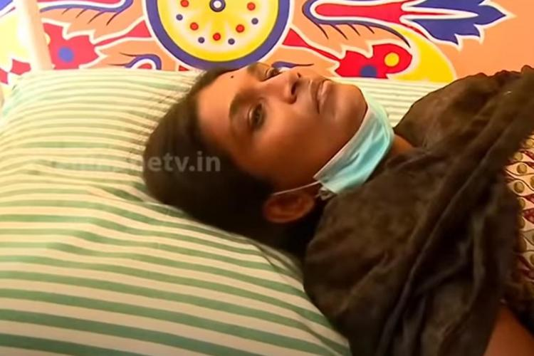 Bindu while meeting media She is lying in a bed due to injured back