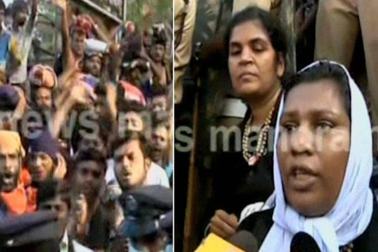 Two women attempt to enter Sabarimala cops make them return citing security issues