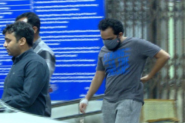 Bineesh Kodiyeri being taken to court by Enforcement Directorate Officials in Bengaluru