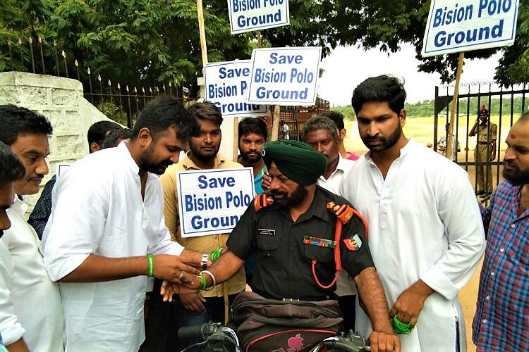 New Telangana Secretariat at Bison Polo ground Protests continue against proposed move