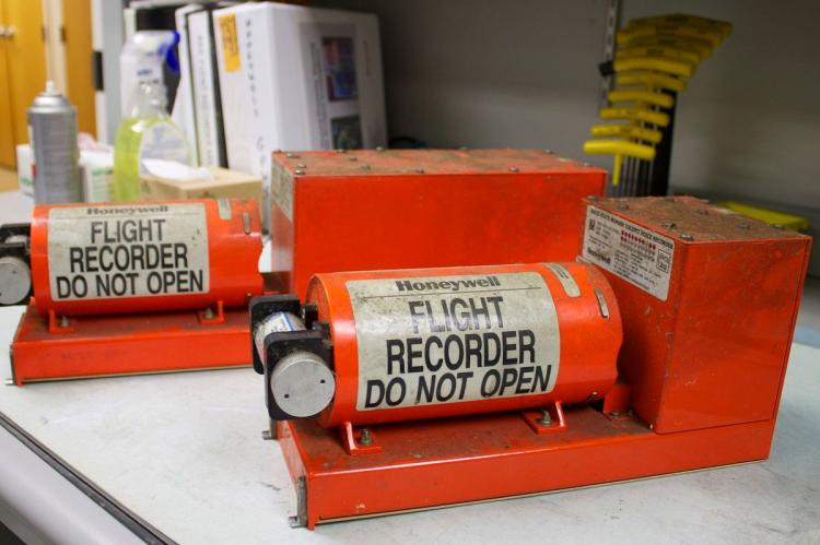 A flight data recorder also known as a blakc box is not actually black, but orange in colour