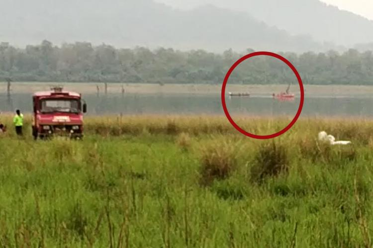 The site where the boat capsized
