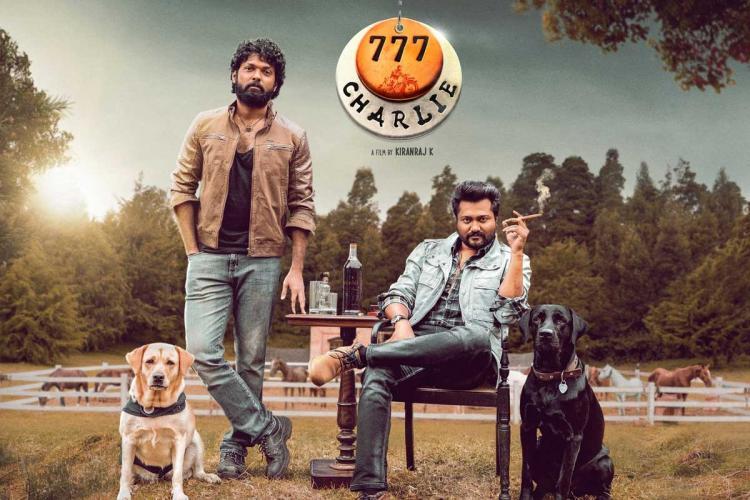 Rakshit Shetty and Bobby Simha still from 777 Charlie