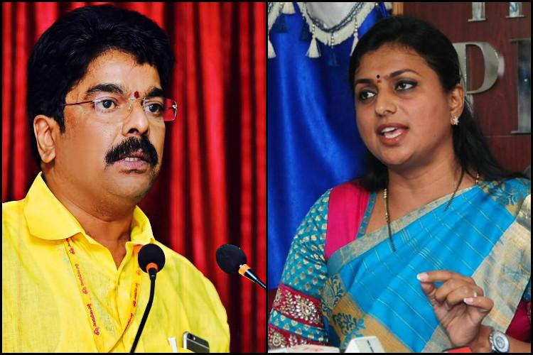 Nandyal bye-poll Vijayawada MLA Bonda Uma dares MLA Roja to tonsure her head if YSRCP loses