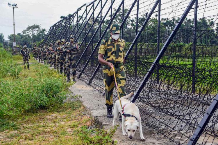 Representative image of Border Security Force patrolling