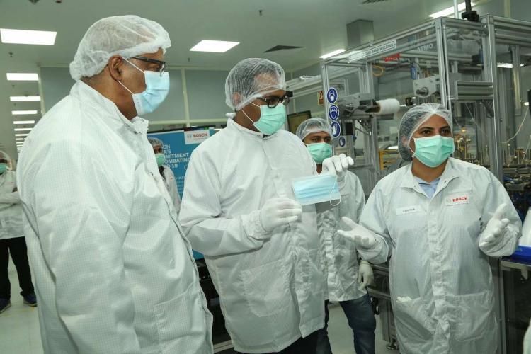 Bosch plant for face masks