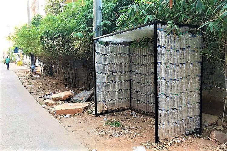 Hyderabad gets its first recycled bus stop made out of plastic bottles
