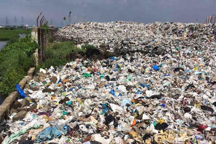 Tonnes of garbage accumulated over the years in Kochis Brahmapuram