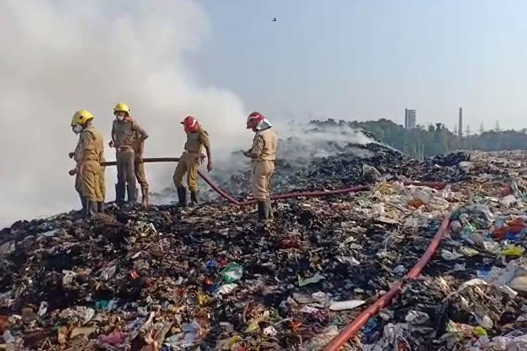 Fire breaks out again at Brahmapuram waste plant in Kochi smoke chokes
