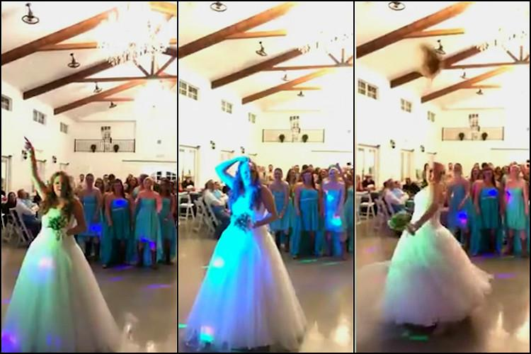 Instead of bouquet bride decides to throw a wig at wedding The reason will warm your heart