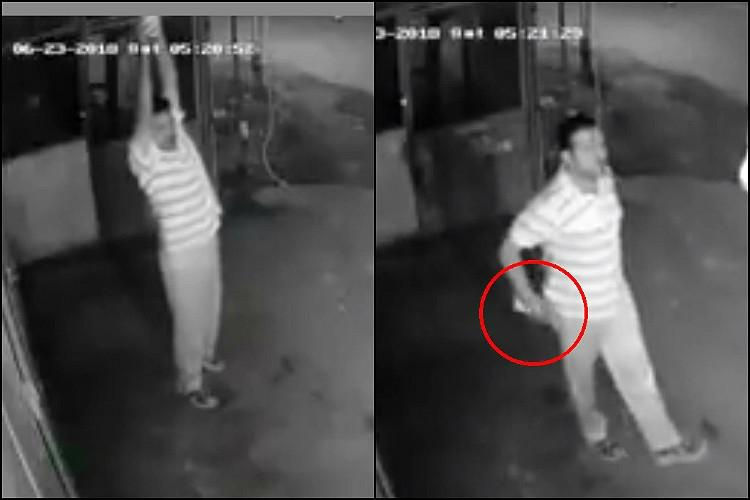 What a bulb Coimbatore man steals light while pretending to exercise gets caught