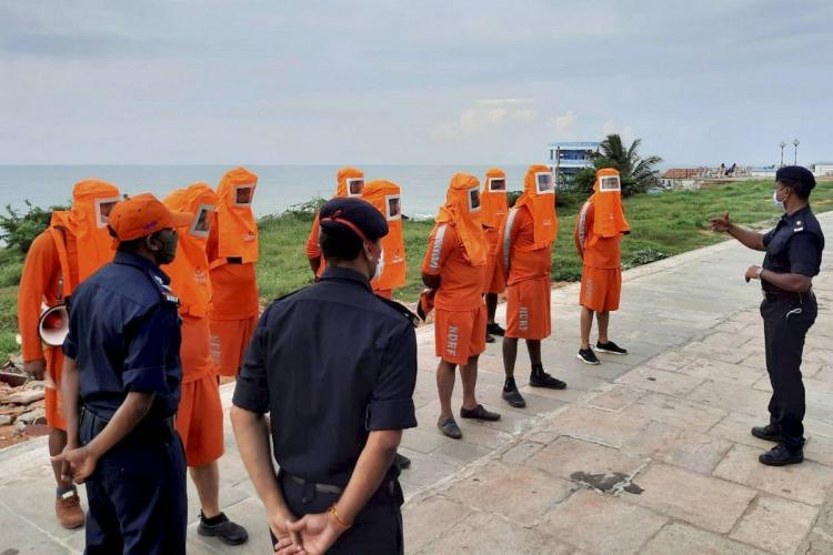 NDRF team getting prepared to deal with Burevi cyclon