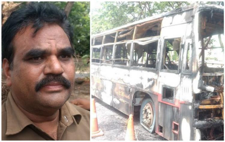 Hero of Vijayawada Driver saves 70 passengers moments before bus burns down