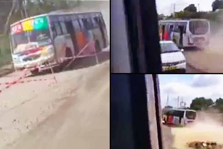 Still Fast and Furious Another video of reckless bus-race on TN highway emerges