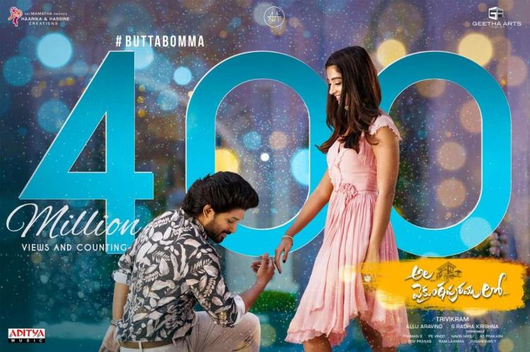 Allu Arjun and Pooja Hegde are seen posing for a song in a Telugu movie