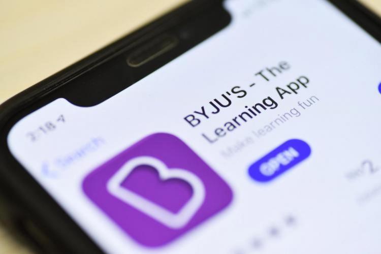 Byju's app on phone