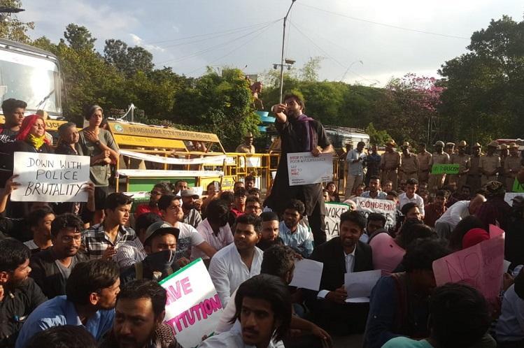 Despite row over police permission scores attend Bengaluru protest against CAA