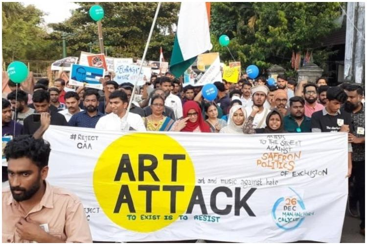 Dissent through art How hundreds in Kozhikode protested against CAA