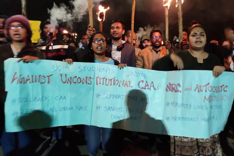 Political parties in Telangana protest against CAA but not jointly