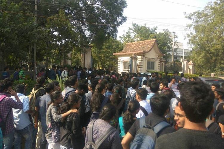 CBIT fees hike 12 students rusticated 14 suspended for protests on Hyd campus