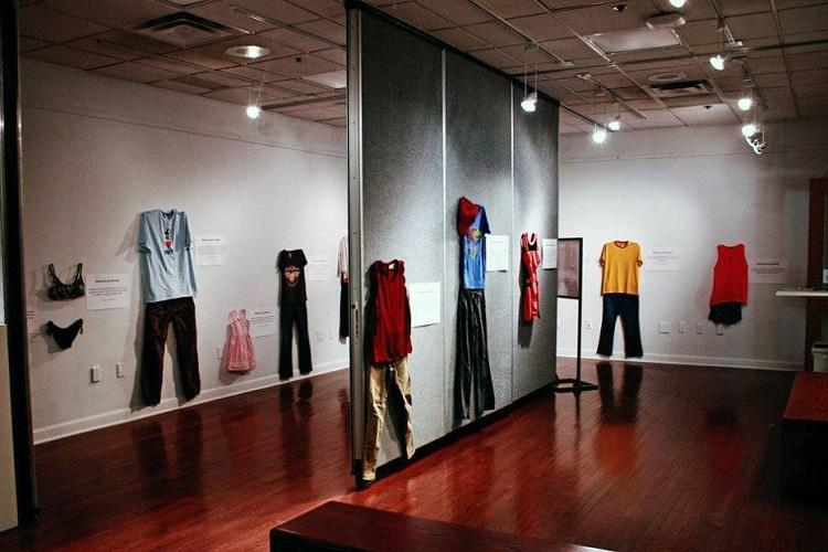 What was she wearing This display of rape victims clothes proves truth about assault