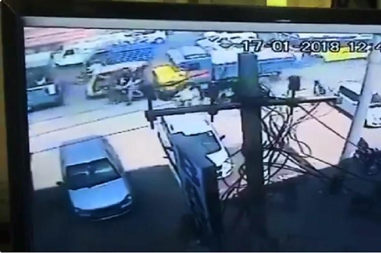 Watch Lorry runs amok in Hyderabad kills two